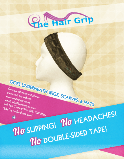 The Hair Grip holds your wig in place. Hair Therapy Wigs Exclusive Christchurch Stockists
